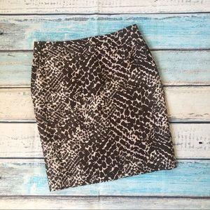 LOFT silk skirt